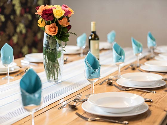 Table laid for Corporate Team Events