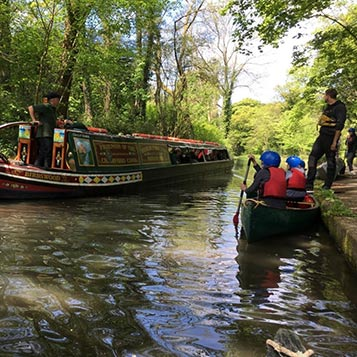 canoeing on the Cromford Canal